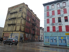 Over-the-Rhine on a rainy day