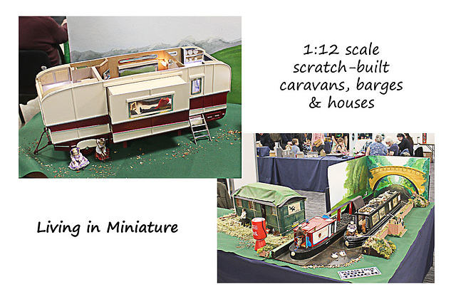 Brighton Modelworld 2016 Living in Miniature 1 12 scale caravans &c