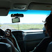 My friends on the road into Badlands NP