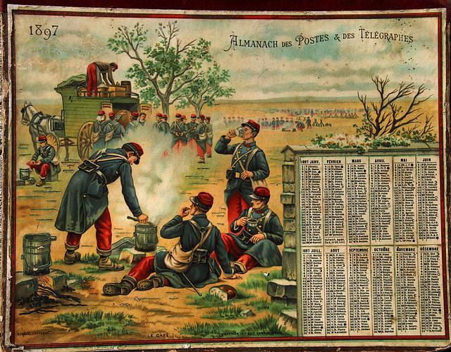 Un bon fonctionnaire à l'affût remarquera de suite qu'il manque deux jours fériés sur ce calendrier de 1897