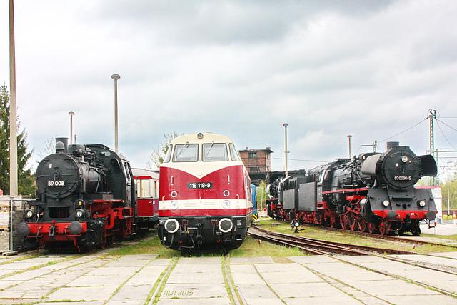 Schwerin, Eisenbahnmuseum. Ausquartiert