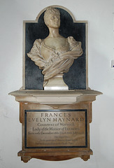 Frances Countess of Warwick Monument, Little Easton Church, Essex