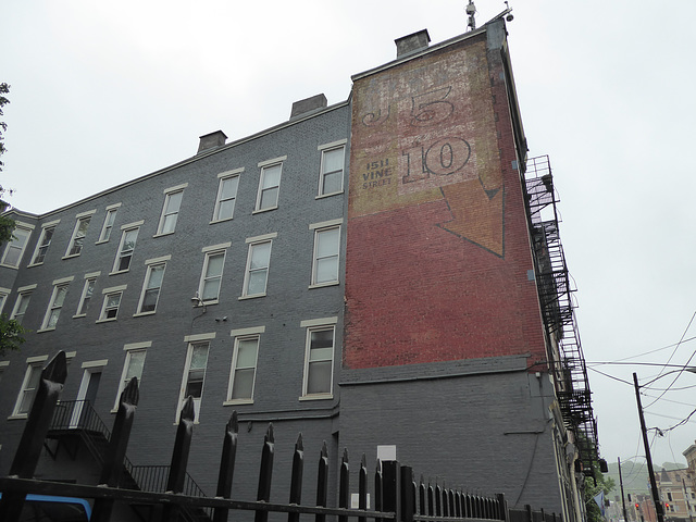 ghost signs, Over-the-Rhine on a rainy day
