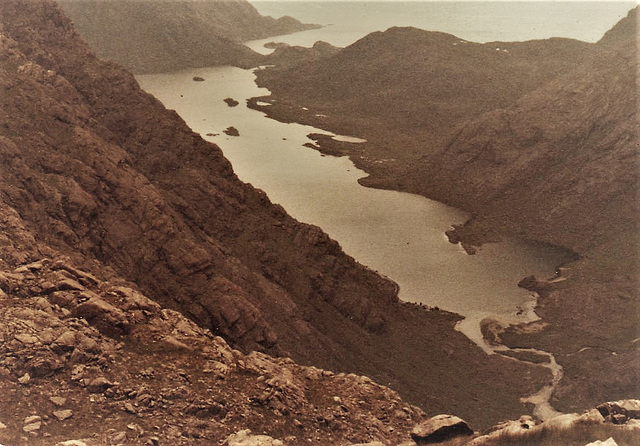 Skye 1978.  Loch Coruisk (I swam in it; easily the coldest swim of my life!)