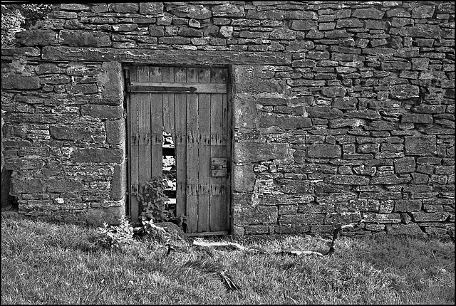 Barn door near Skipton.