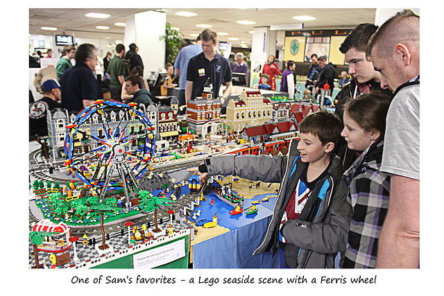 Brighton Modelworld 2016 Sam & the lego Ferris wheel
