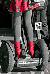 High Heels on Segway