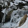 Along the frozen creek.