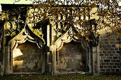Mauerreste einer Wallfahrtskapelle in Magdeburg