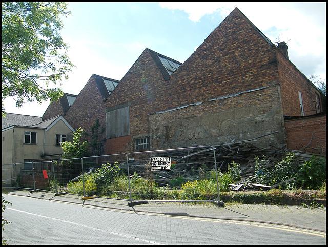 Atherstone demolition site