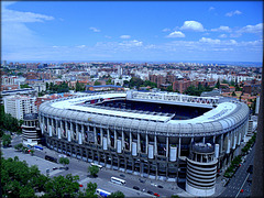 Santiago Bernabeu, the home of Real Madrid