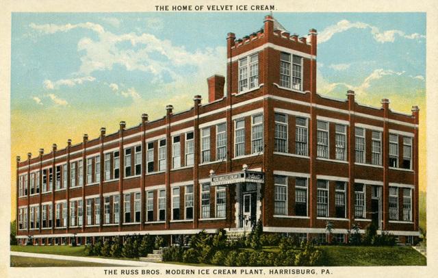 Russ Bros. Modern Ice Cream Plant, Harrisburg, Pa., 1920s