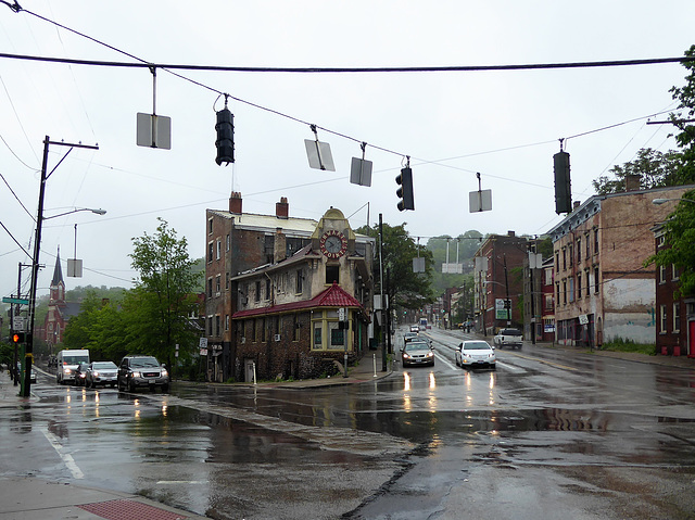 Over-the-Rhine walk in the rain