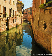 Venice architecture and reflections - Topaz Filter
