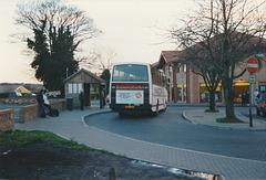Dack (Rosemary Coaches) B387 UEX at King Street, Mildenhall - Jan 1990