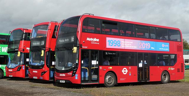 Metroline London hybrids at Showbus - 29 Sep 2019 (P1040641)