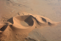 Dunes of Namib Desert Aerial View