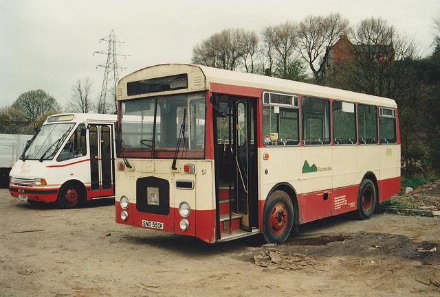 Rossendale Transport 51 (SND 551X) at the yard in Rochdale – 261-04 (261-04)