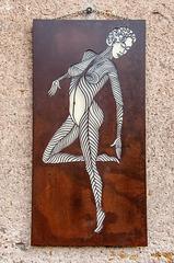 La danseuse (Plaque d'acier découpée)