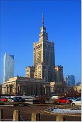 Warszawa . Pałac kultury i otoczenie.