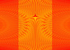 Waves pattern pol coord back2back orange paneled