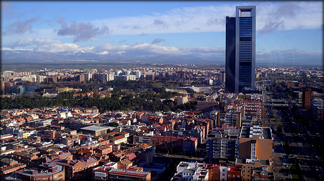 Northern Madrid (through glass, obviously!)
