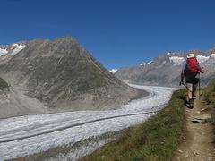 Le long du Glacier d'Aletsch (Valais, Suisse)