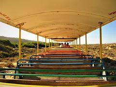 Beach train . . .