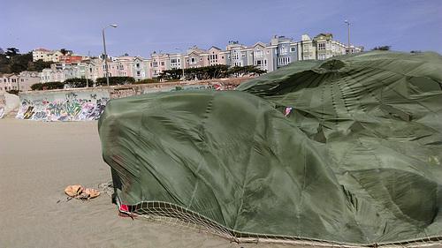 Parachute on Ocean Beach (0271)