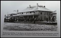 Estación del ferrocarril de Billings en 1883