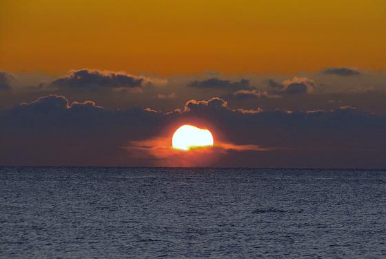 Am Darsser Weststrand: Sonnenuntergänge satt!