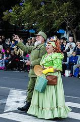 """""""Fidel Castro y su mujer"""" en una arenga de 3 minutos, no de 3 horas, en los carnavales de Tenerife 2016"""