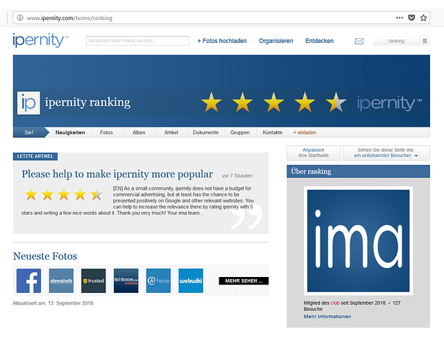 Please help to make ipernity more popular