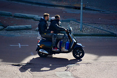 Doubling up on a moped