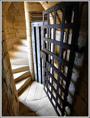 Escalier secret au château de Beynac (24)