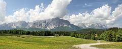Panorama von der Terrasse der Alpe Nemes......