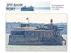 Spit Bank Fort from Southsea 11 7 2019
