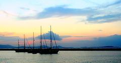 Naxos-Port: Blue Hour