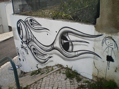 Painting on wall, by Raf.