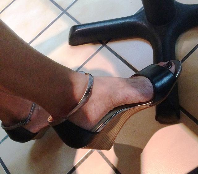 wife in cole haan heels