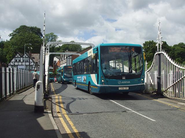 DSCF7662 Arriva 2613 (CX56 CEK) and 2620 (CX07 COJ) in Northwich - 15 June 2017