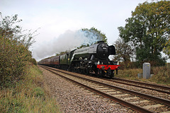 """LNER A3 Class 4-6-2 no 60103 Flying Scotsman with """"THE CATHEDRALS EXPRESS"""" ~ 18th October 2017"""