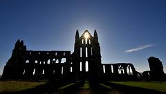 Whitby Abbey Church silhouette