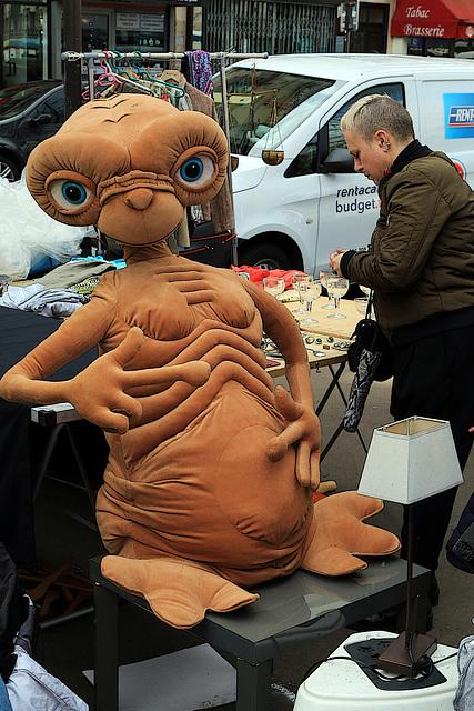 Il me désigne discrètement son épouse , je comprends mieux  , E.T. maison