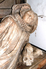 Monument in Little Easton Church, Essex