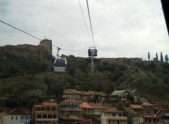 Ascent in cable car.