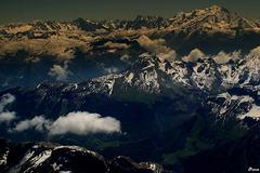 Chaine des Aravis et chaine du Mt Blanc