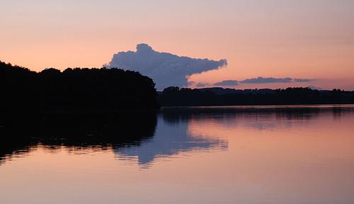 Sonnenuntergang am Wittensee/ Schleswig-Holstein
