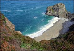 inaccessible beach, Porthtowan, Cornwall