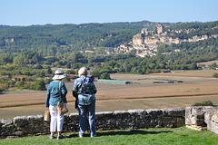 Paysage autour de Vézac en Dordogne